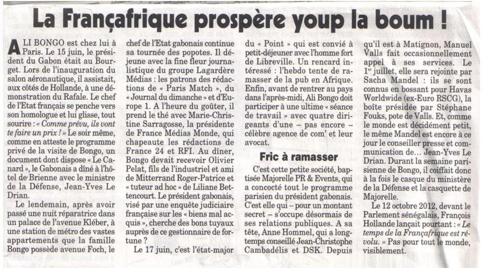 France gabon salon du bourget quand fran ois hollande essaye de vendre un rafale ali bongo - Programme salon du bourget 2015 ...