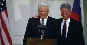 Boris Eltsine et Bill Clinton