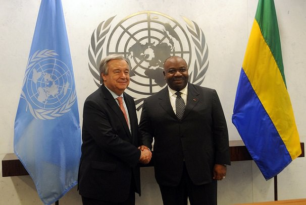 Ali Bongo Ondimba et Antonio Guterres