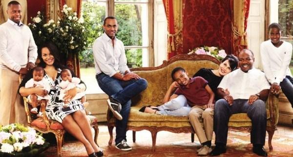 La famille du président gabonais Ali Bongo Ondimba