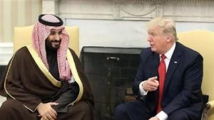 Donald Trump s'entretient avec Mohammed ben Salmane à Washington, le mardi 14 mars 2017. ©Getty Images